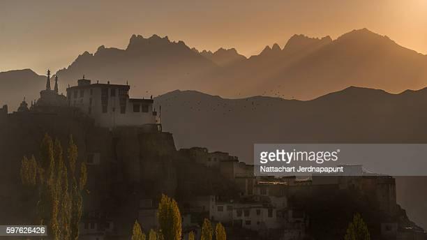 Nice view of Lamayuru monastery in moonland valley