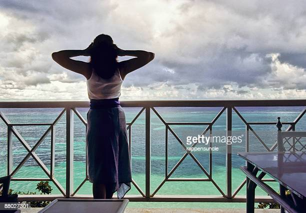 nice view - balcony stock photos and pictures