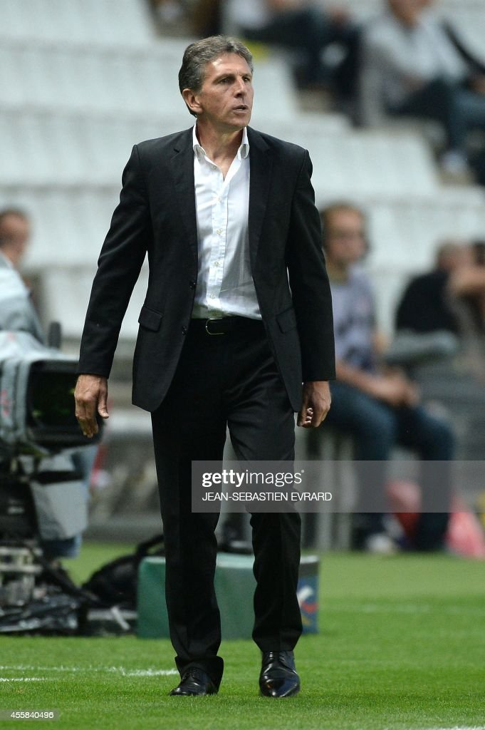 Nice's French coach Claude Puel attends the French L1 football match between Nantes (FCN) and Nice (OGC) on September 20, 2014 at the Beaujoire stadium in Nantes, western France.