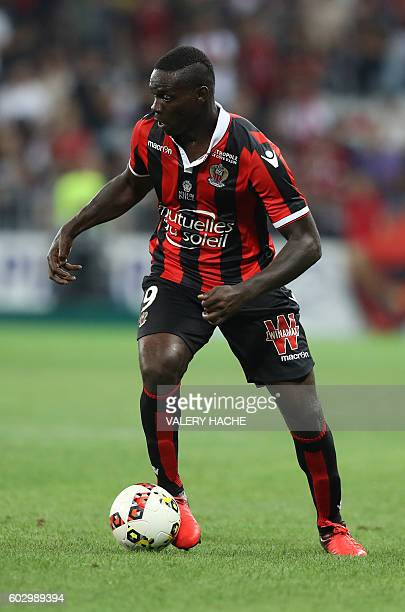 Nice's Italian forward Mario Balotelli is pictured during the French L1 football match OGC Nice vs Olympique de Marseille on September 11 2016 at the...
