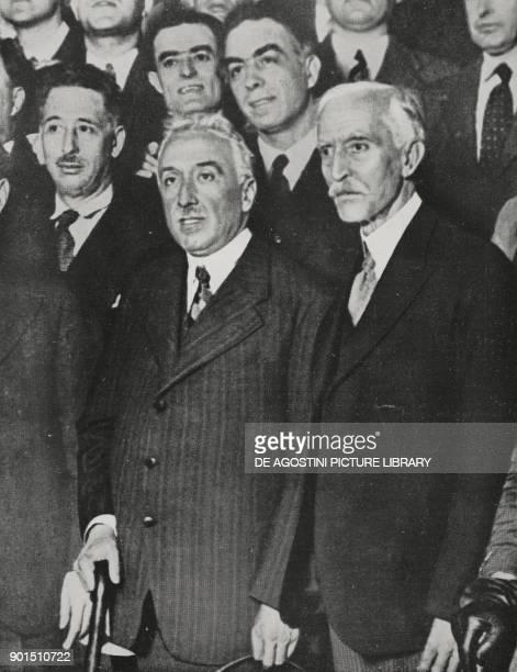 Niceto Alcala-Zamora y Torres , Prime Minister of the Second Spanish Republic, future President of the Republic, and Francesc Macia , President of...