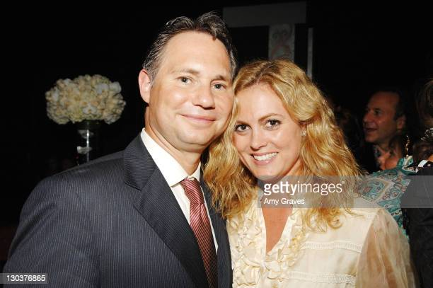 Niche Media CEO Jason Binn and Alexis Avery attend the Los Angeles Confidential Magazine PreEmmy Party Hosted by Ellen Pompeo on September 11 2007 in...