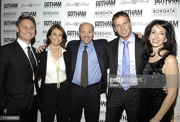 Niche Media CEO Jason Binn Karen Cramer CNBC Mad Money Host Jim Cramer Michael Schulson and Jill Schulson attend Gotham Magazines Eighth Annual Gala...