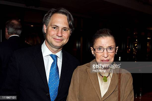 Niche Media Jason Binn and the honorable Ruth Bader Ginsburg pose for a photo at Capitol File Magazine's After Party for Robert Redford's The...