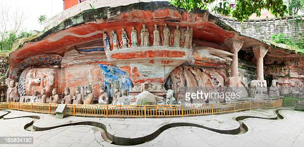 niche of sakyamuni entering nirvana - dazu stock photos and pictures