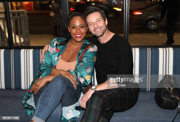 Nichelle Hines and Ian Bohen attend the grand opening of FARMHOUSE Los Angeles on March 15 2018 in Los Angeles California