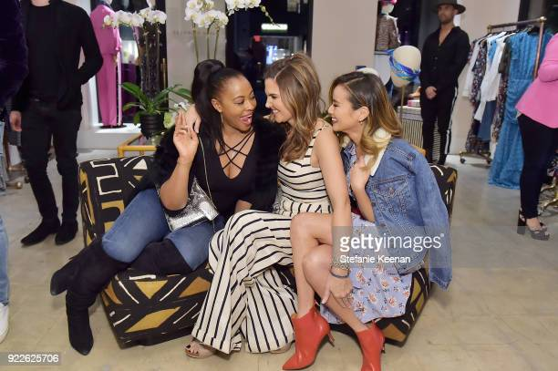 Nichelle Hines Veronica Miele Beard and Jamie Chung attend Veronica Beard LA Store Opening on February 21 2018 in Los Angeles California