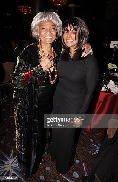 Nichelle Nichols and Bebe Jackson attend 11th Annual Uniting Nations Awards viewing and dinner after party at the Beverly Hilton hotel on March 7,...