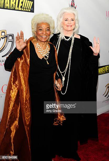Nichelle Nichols and Celeste Yarnall attend the Sneak Peek World Premiere of Unbelievable The Movie at Mann's Chinese Theater on September 7 2016 in...