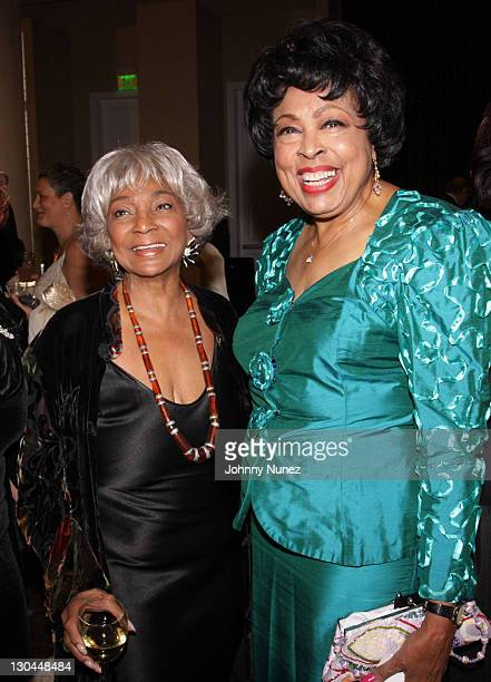 Nichelle Nichols and Congresswoman Diane Watson attend the 11th Annual Uniting Nations Awards viewing and dinner after party at The Beverly Hilton...
