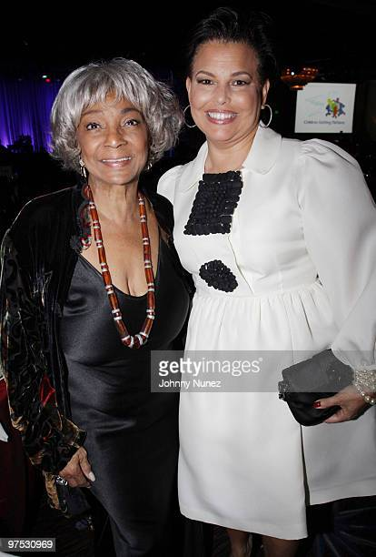 Nichelle Nichols and Debra Lee attend 11th Annual Uniting Nations Awards viewing and dinner after party at the Beverly Hilton hotel on March 7 2010...