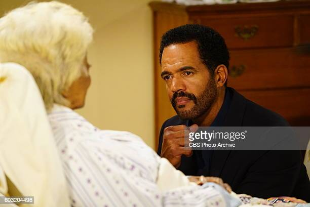Nichelle Nichols and Kristoff St John on the 11000th episode of the CBS series THE YOUNG AND THE RESTLESS airing on September 1 2016 THE YOUNG AND...
