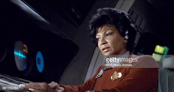 "Nichelle Nichols as Commander Uhura in the movie, ""Star Trek II: The Wrath of Khan."" Release date, June 4, 1982. Image is a screen grab."