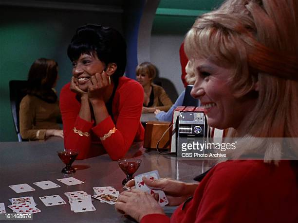 Nichelle Nichols as Lieutenant Uhura in the STAR TREK episode Charlie X Season 1 episode 2 Original air date September 15 1966 Image is a screen grab