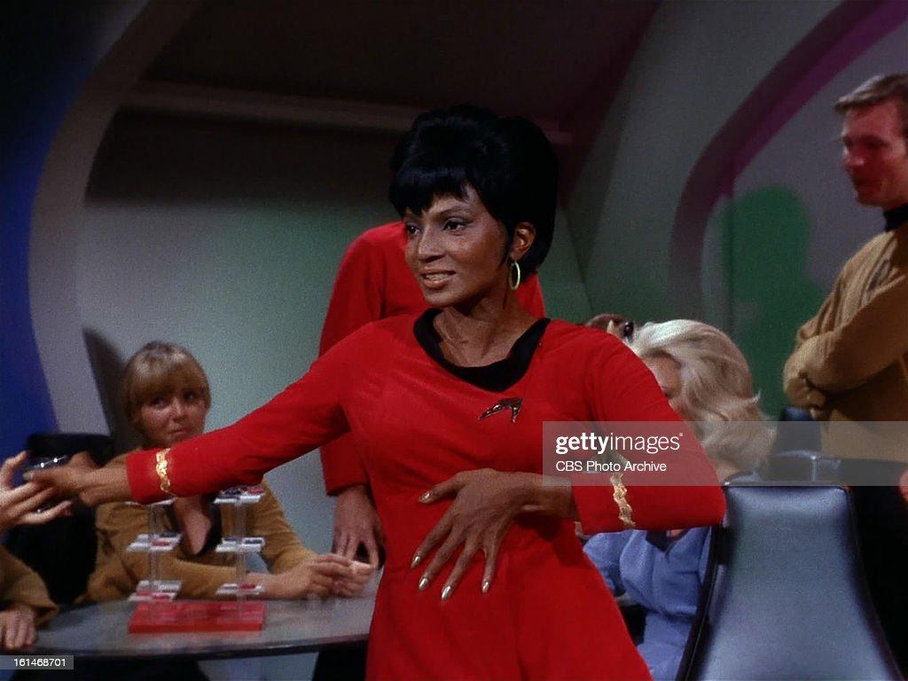 Nichelle Nichols as Lieutenant Uhura in the STAR TREK episode ...