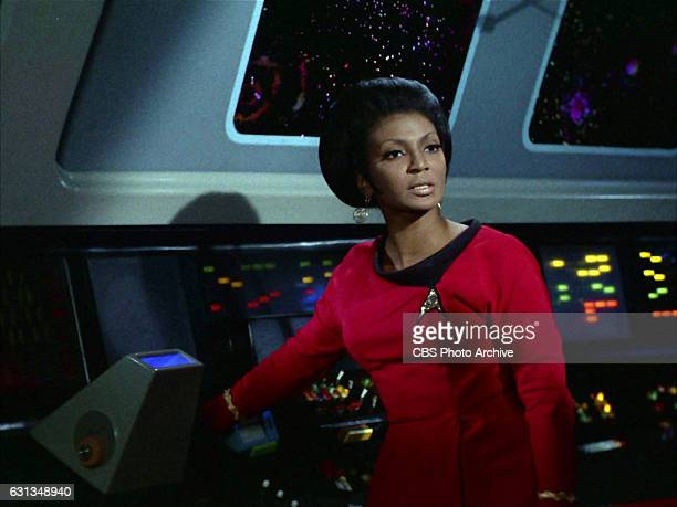 """Nichelle Nichols as Lieutenant Uhura on the Star Trek: The Original Series episode, """"Whom Gods Destroy."""" Originally aired January 3, 1969. Image is a..."""