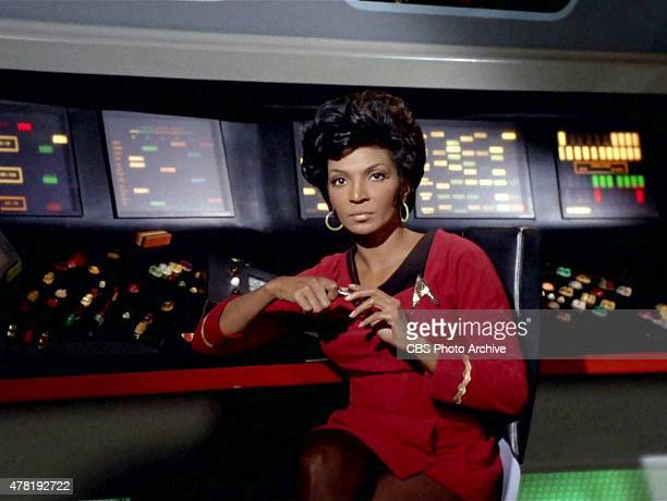 "Nichelle Nichols as Lt. Uhura in the STAR TREK: THE ORIGINAL SERIES episode, ""Assignment: Earth."" Season 2, episode 26. Original air date was March..."