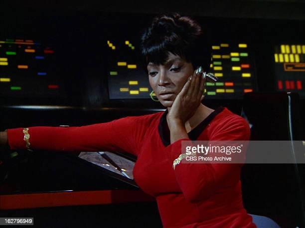 "Nichelle Nichols as Uhura in the STAR TREK: THE ORIGINAL SERIES episode, ""What Are Little Girls Made Of?"" Season 1, episode 7. Original air date,..."