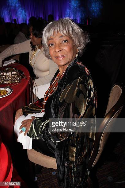 Nichelle Nichols attends 11th Annual Uniting Nations Awards viewing and dinner after party at the Beverly Hilton hotel on March 7 2010 in Beverly...
