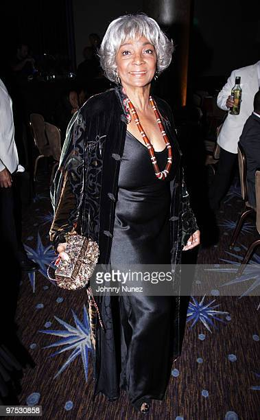 Nichelle Nichols attends 11th Annual Uniting Nations Awards viewing and dinner after party at the Beverly Hilton hotel on March 7, 2010 in Beverly...