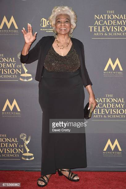 Nichelle Nichols attends the 44th Annual Daytime Emmy Awards Arrivals at Pasadena Civic Auditorium on April 30 2017 in Pasadena California