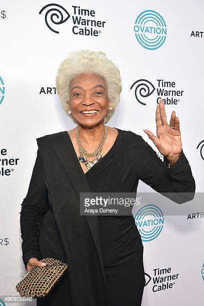 """Nichelle Nichols attends the Ovation TV premiere screening of """"Art Breakers"""" on October 1, 2015 in Los Angeles, California."""