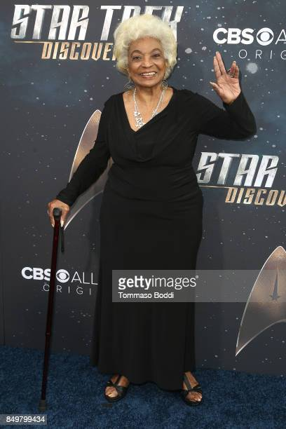 Nichelle Nichols attends the premiere of CBS's 'Star Trek Discovery' at The Cinerama Dome on September 19 2017 in Los Angeles California