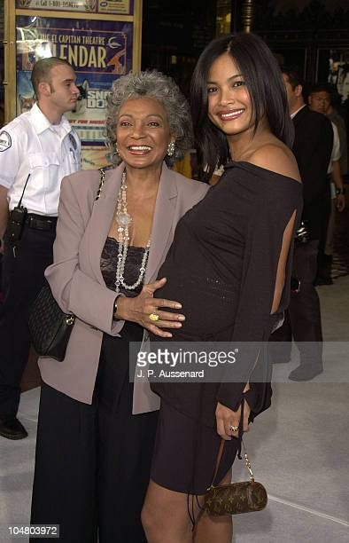 Nichelle Nichols Joanna Bacalso during Snow Dogs Premiere at El Capitan Theatre in Hollywood California United States