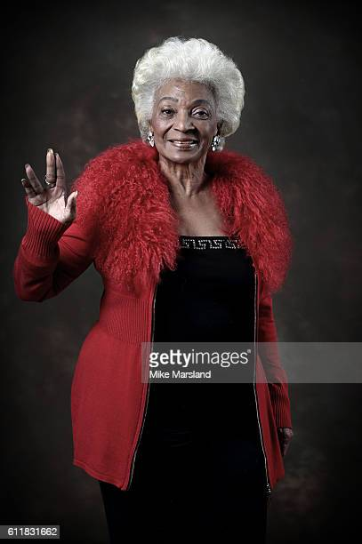 """Nichelle Nichols, Star Trek's original Lieutenant Uhura, is photographed at the BFI as part of its """"Star Trek at 50"""" events. At BFI Southbank on..."""