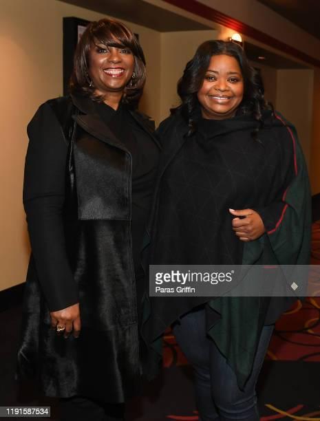Nichelle Tramble Spellman and Octavia Spencer attends Apple TV's Truth Be Told Atlanta screening at AMC Parkway Pointe on December 02 2019 in Atlanta...