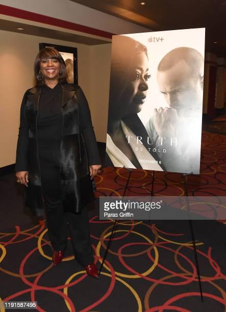 Nichelle Tramble Spellman attends Apple TV's Truth Be Told Atlanta screening at AMC Parkway Pointe on December 02 2019 in Atlanta Georgia