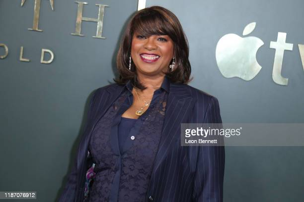 Nichelle Tramble Spellman attends Premiere Of Apple TV's Truth Be Told at AMPAS Samuel Goldwyn Theater on November 11 2019 in Beverly Hills California