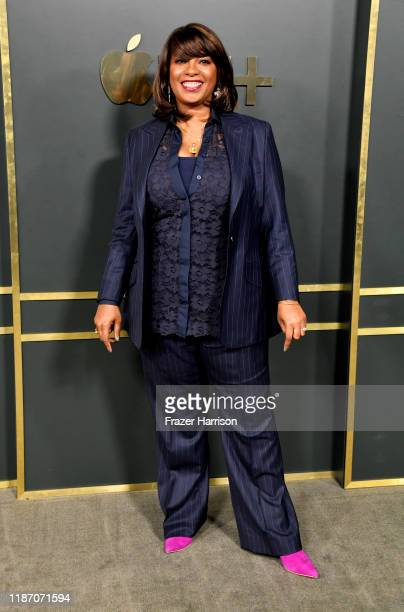 Nichelle Tramble Spellman attends the Premiere Of Apple TV's Truth Be Told at AMPAS Samuel Goldwyn Theater on November 11 2019 in Beverly Hills...