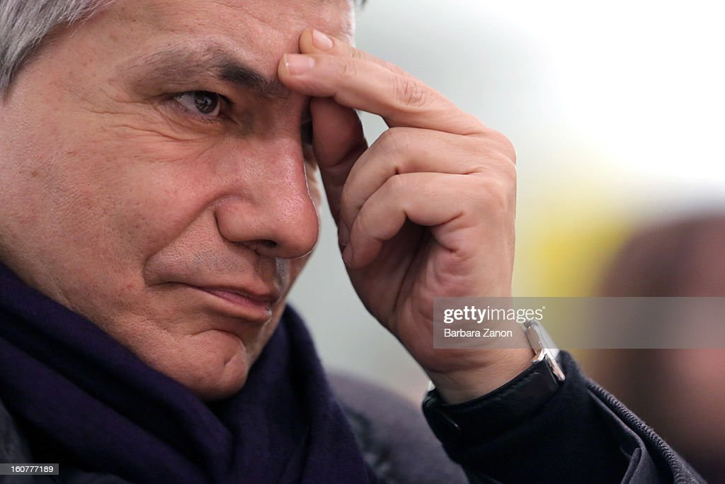 Nichi Vendola, the president of Apulia and leader of Sinistra ecologia e Liberta party, attends an Electoral Campaign at Palaplip on February 5, 2013 in Mestre, Italy. The Italian general elections take place on February 24/25.