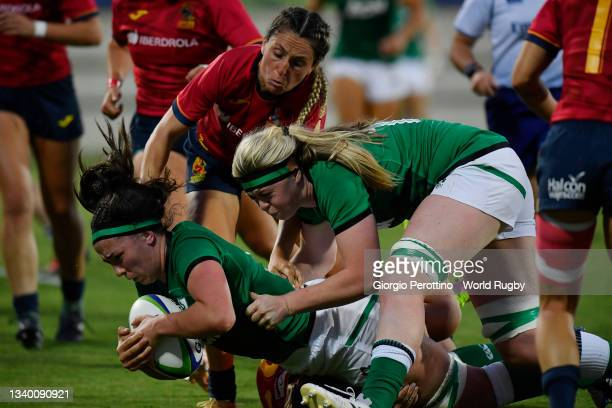 Nichola Fryday of Ireland in action during the Rugby World Cup 2021 Europe Qualifying match between Spain and Ireland at Stadio Sergio Lanfranchi on...