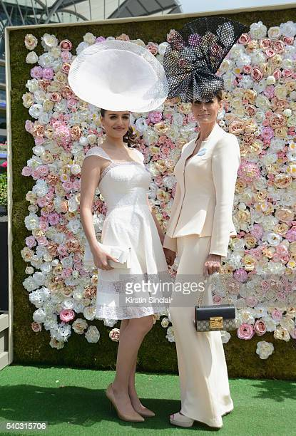 Nichola Kristensen and Isabell Kristensen attend day 2 of Royal Ascot at  Ascot Racecourse on June f06cfed3ef2c