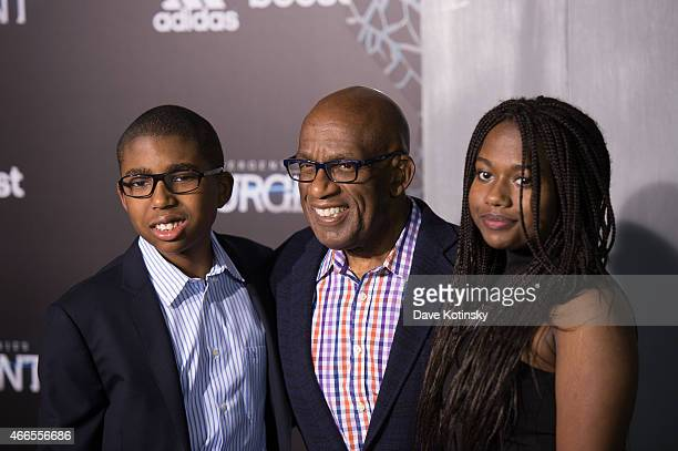 Nicholas Albert Roker Al Roker and Leila Roker arrive at the The Divergent Series Insurgent New York premiere at Ziegfeld Theater on March 16 2015 in...