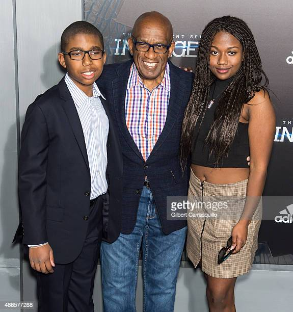 Nicholas Albert Roker Al Roker and Leila Roker attend 'The Divergent Series Insurgent' New York premiere at Ziegfeld Theater on March 16 2015 in New...