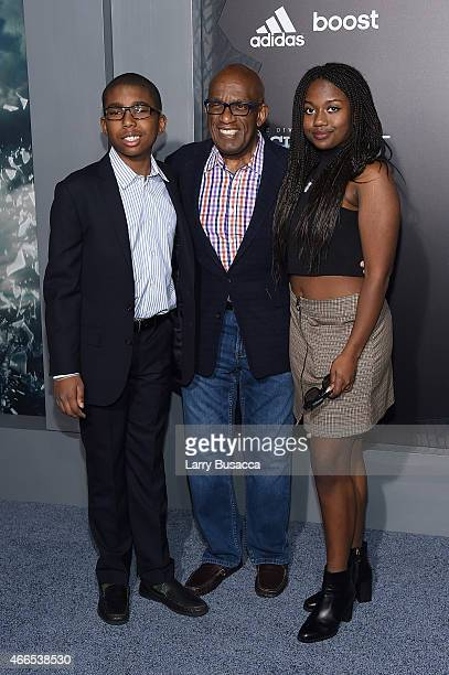 Nicholas Albert Roker Al Roker and Leila Roker attends The Divergent Series Insurgent New York premiere at Ziegfeld Theater on March 16 2015 in New...