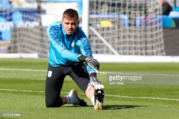 Nicholas Bilokapic of Huddersfield Town during the Sky Bet Championship match between Huddersfield Town and Norwich City at John Smith's Stadium on...
