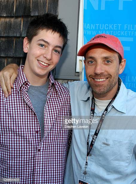 Nicholas Braun and Director Jace Alexander during Nantucket Film Festival 8 A Screeninig of Carry Me Home at The Harbor House in Nantucket...