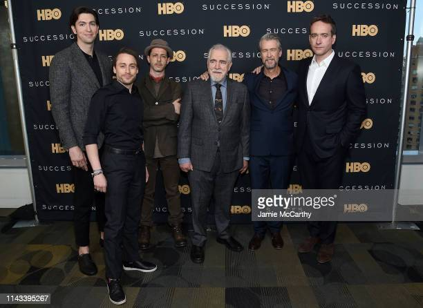 Nicholas Braun Kieran Culkin Jeremy Strong Brian Cox Alan Ruck and Matthew Macfadyen attend the Succession FYC Event at Time Warner Center on April...