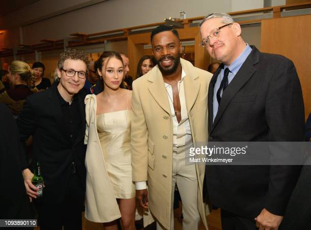 Nicholas Britell Alycia DebnamCarey Colman Domingo and Adam McKay attend The Hollywood Reporter's 7th Annual Nominees Night presented by MercedesBenz...