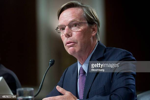 R Nicholas Burns professor of diplomacy and international relations at the Harvard Kennedy School of Government speaks during a Senate Armed Services...