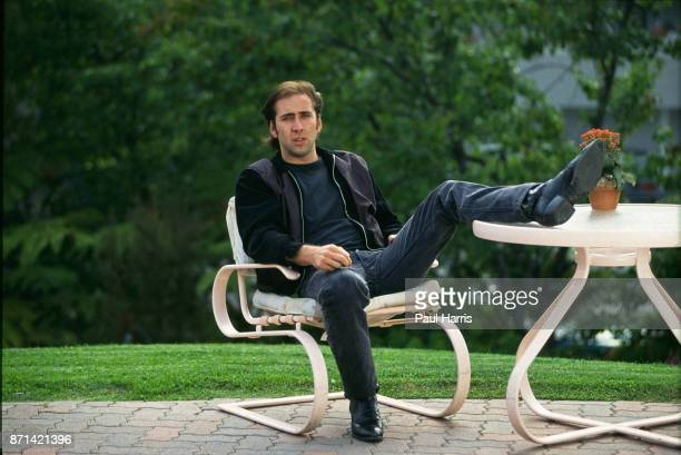Nicholas Cage photographed at the Westwood Marquis Hotel on September 12, 1990 at Westwood, Los Angeles, California