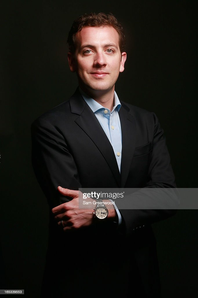 Nicholas Carey, VP of Sponsorships at Wells Fargo poses at the World Congress Of Sports Executive Portrait Studio on April 3, 2013 in Naples, Florida.
