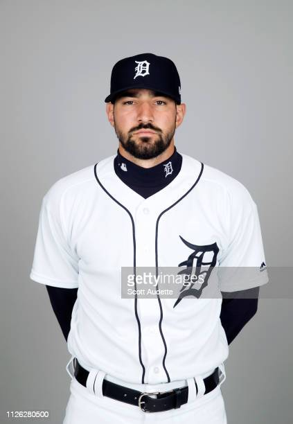 Nicholas Castellanos of the Detroit Tigers poses during Photo Day on Tuesday February 19 2019 at Publix Field at Joker Marchant Stadium in Lakeland...