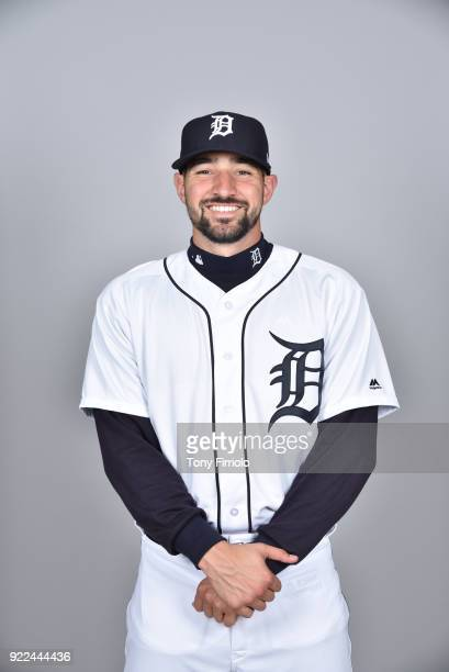 Nicholas Castellanos of the Detroit Tigers poses during Photo Day on Tuesday February 20 2018 at Publix Field at Joker Marchant Stadium in Lakeland...