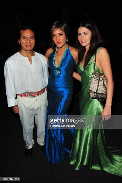 Nicholas Chango Q'orianka Kilcher and Leilani Munter attend HISTORY hosts preview of THE PEOPLE SPEAK at Jazz at Lincon Center Rose theater NYC on...