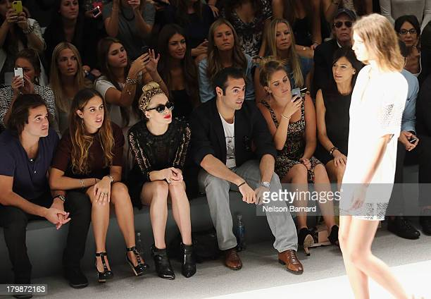 Nicholas Cinque Chloe Curtis Casey LaBow Mohammed Al Turki Sophie Curtis and Perrey Reeves attend the Jill Stuart Spring 2014 fashion show during...